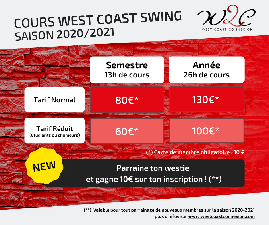 Tarifs cours 2020 / 2021